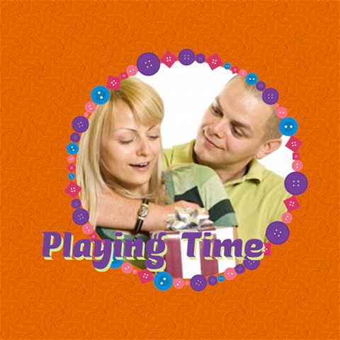 Playing Time By May   Scrapbook Page 12  X 12    Wqtbuu79f134   Www Artscow Com 12 x12 Scrapbook Page - 1