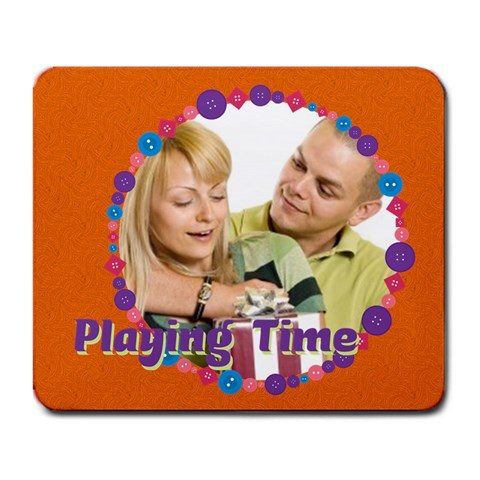 Playing Time By May   Large Mousepad   6js2hko2r45q   Www Artscow Com Front