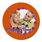 playing time - Round Mousepad