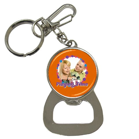 Playing Time By May   Bottle Opener Key Chain   F2j7aefkvyuq   Www Artscow Com Front