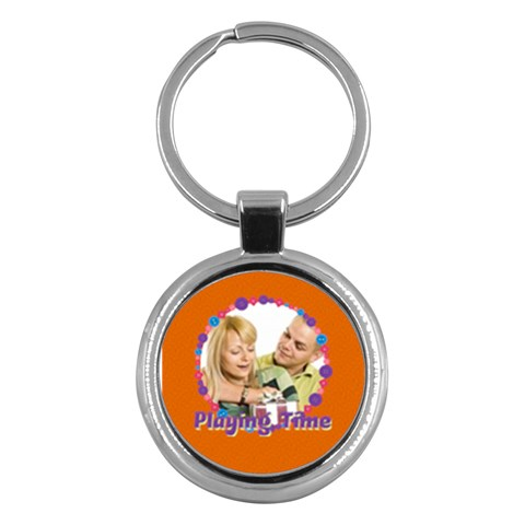 Playing Time By May   Key Chain (round)   Uaclh2hoq33e   Www Artscow Com Front