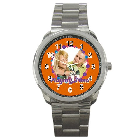 Playing Time By May   Sport Metal Watch   Ruw97icx3fqz   Www Artscow Com Front