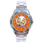 playing time - Stainless Steel Analogue Men's Wa