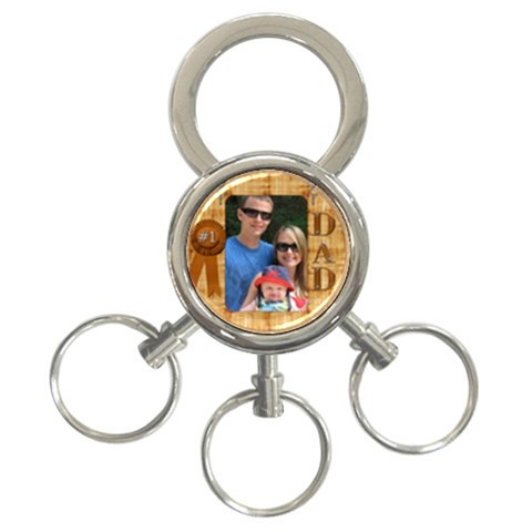 Number 1 Dad 3 Ring Keyring By Lil    3 Ring Key Chain   Xu1l2vx0g7ji   Www Artscow Com Front