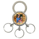 Number 1 Dad 3-Ring Keyring - 3-Ring Key Chain