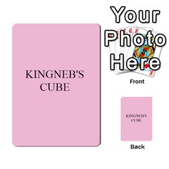 Cube Card Backs By Ben Hout   Multi Purpose Cards (rectangle)   Xxdgglj9fk1r   Www Artscow Com Back 19