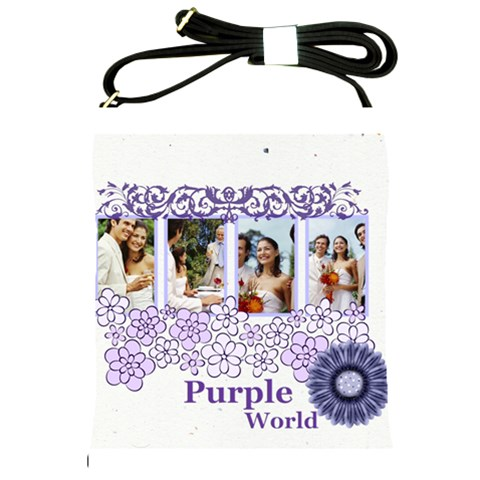 Wedding Of Purple By Joely   Shoulder Sling Bag   V9a0rzg02y5k   Www Artscow Com Front
