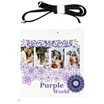 wedding of purple - Shoulder Sling Bag