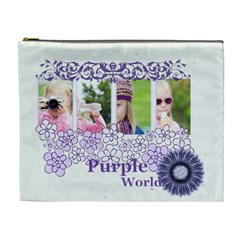Purple Of World By Joely   Cosmetic Bag (xl)   Aeyhh1vf7o8f   Www Artscow Com Front