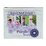 purple of world - Cosmetic Bag (XL)