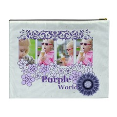 Purple Of World By Joely   Cosmetic Bag (xl)   Aeyhh1vf7o8f   Www Artscow Com Back