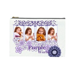 Purple By Joely   Cosmetic Bag (large)   Bp9bgj38zo3v   Www Artscow Com Front