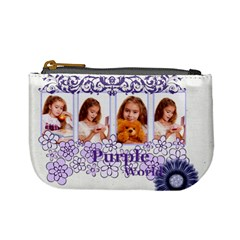 Purple By Joely   Mini Coin Purse   Qjwmf95rihka   Www Artscow Com Front