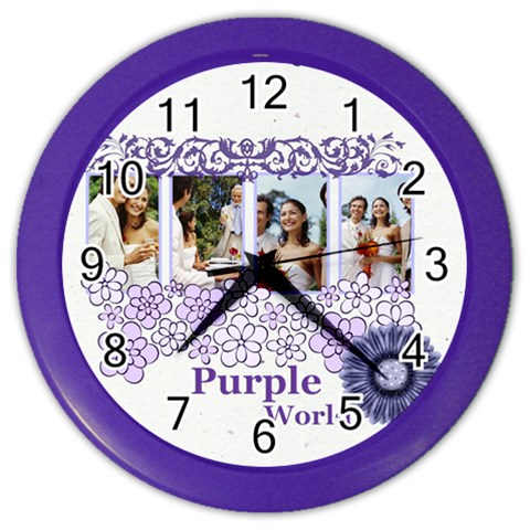 Purple By Joely   Color Wall Clock   Lrq3gah4227v   Www Artscow Com Front