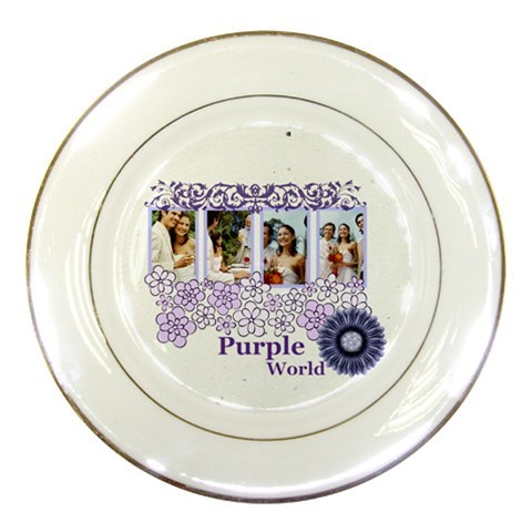Purple By Joely   Porcelain Plate   Uc926payuhy4   Www Artscow Com Front