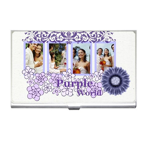 Purple By Joely   Business Card Holder   Ayiyyjiymnrg   Www Artscow Com Front