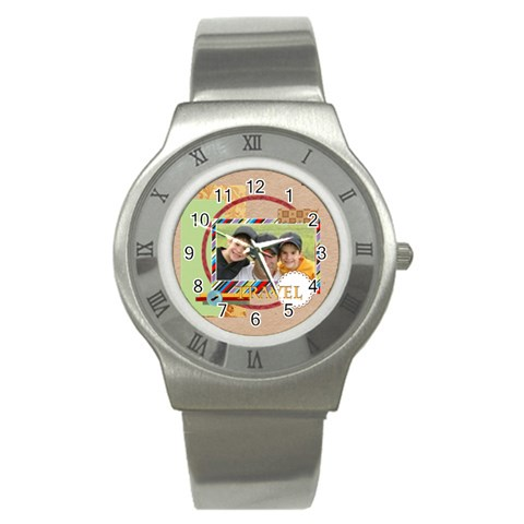 Travel By Joely   Stainless Steel Watch   Snvi7dka1qsa   Www Artscow Com Front