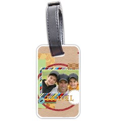 Travel By Joely   Luggage Tag (two Sides)   08kvlcba9ykw   Www Artscow Com Front