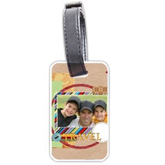 Travel By Joely   Luggage Tag (two Sides)   08kvlcba9ykw   Www Artscow Com Back