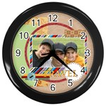 travel - Wall Clock (Black)