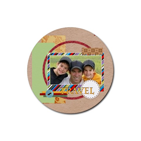 Travel By Joely   Rubber Coaster (round)   Sa678ms2962a   Www Artscow Com Front