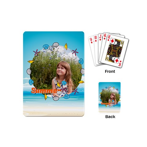 Summer By May   Playing Cards (mini)   71hvjc0jga27   Www Artscow Com Back