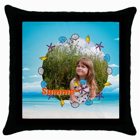 Summer By May   Throw Pillow Case (black)   H1ipz5gsghlq   Www Artscow Com Front