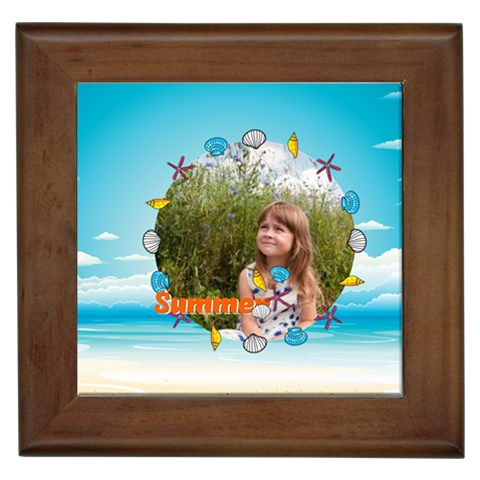 Summer By May   Framed Tile   6eeejoqktn7d   Www Artscow Com Front