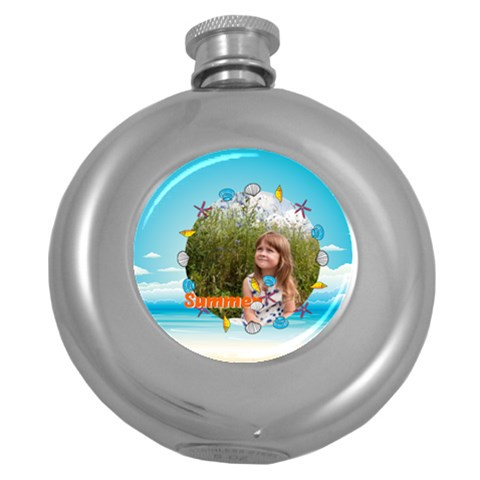Summer By May   Hip Flask (5 Oz)   Yk8qz22vr74f   Www Artscow Com Front
