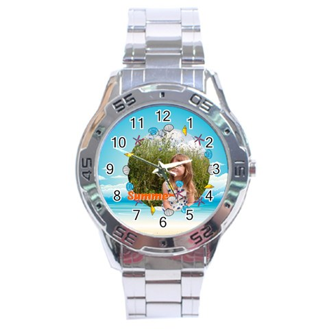 Summer By May   Stainless Steel Analogue Watch   Mbm8zzzakxpr   Www Artscow Com Front