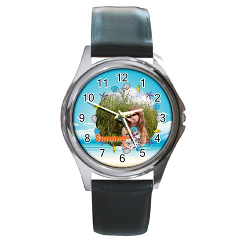 Summer By May   Round Metal Watch   Npozb18we2hf   Www Artscow Com Front