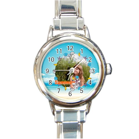 Summer By May   Round Italian Charm Watch   J8pk38b5tnt9   Www Artscow Com Front