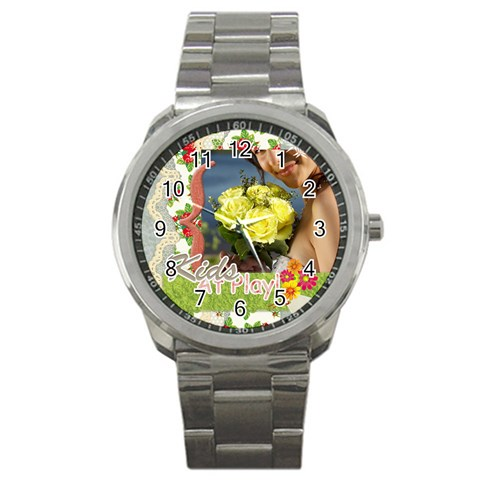Kids By Jacob   Sport Metal Watch   T5kxj5gkg3wz   Www Artscow Com Front