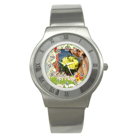 Kids By Jacob   Stainless Steel Watch   4sv8ncui4qkq   Www Artscow Com Front