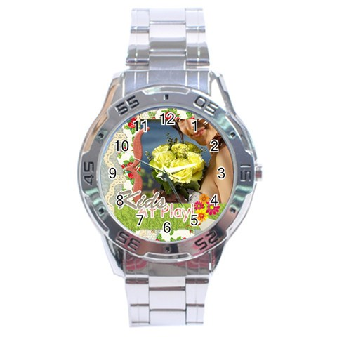 Kids By Jacob   Stainless Steel Analogue Watch   Kaajz0zc5qjm   Www Artscow Com Front