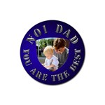 No1 Dad Silver Coaster - Rubber Coaster (Round)