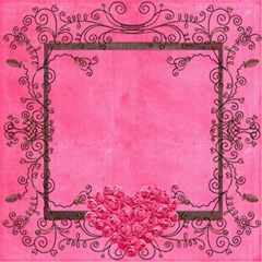 Deco rosa 8 x 8 Scrapbook Pages by Catvinnat 8 x8 Scrapbook Page - 9