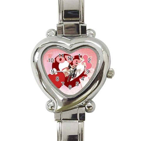 Love By Wood Johnson   Heart Italian Charm Watch   Kx5w0g9qsjra   Www Artscow Com Front