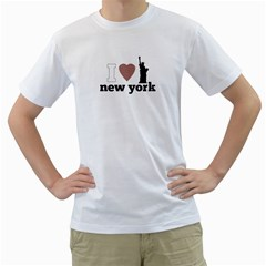 Nyc T Shirt By Lmrt   Men s T Shirt (white) (two Sided)   Symudf0pl0rn   Www Artscow Com Front