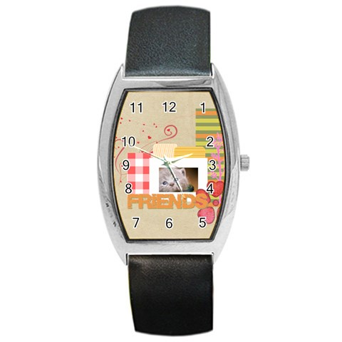 Friends By Joely   Barrel Style Metal Watch   Fr9qn9g23jdh   Www Artscow Com Front