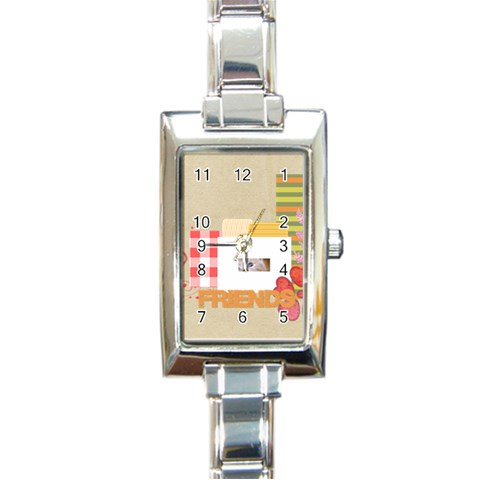 Friends By Joely   Rectangle Italian Charm Watch   Zp0ulnbpl1co   Www Artscow Com Front