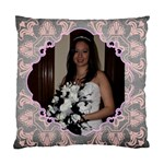Pink Grey Wedding Cushion  cover single side - Cushion Case (One Side)