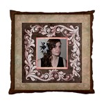 Pink Portrait Cushion  cover single side - Cushion Case (One Side)