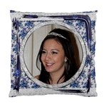 Blue Floral Cushion  cover single side - Cushion Case (One Side)