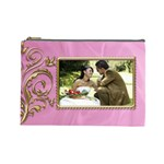 Pink and Gold Cosmetic Bag (Large)