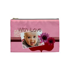 With Love By Joely   Cosmetic Bag (medium)   Nqafuqtmpqvd   Www Artscow Com Front