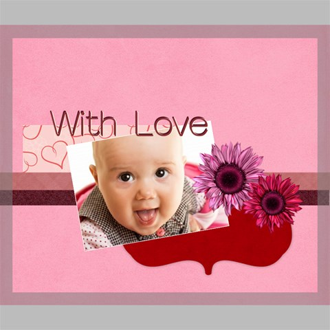 with love by Joely 24  x 20  x 0.875  Stretched Canvas