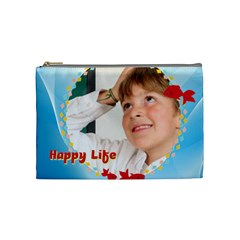 Happy Life By May   Cosmetic Bag (medium)   Timecdbtvbwc   Www Artscow Com Front