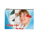 happy life - Cosmetic Bag (Large)