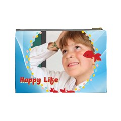 Happy Life By May   Cosmetic Bag (large)   6idyk5io7g4x   Www Artscow Com Back